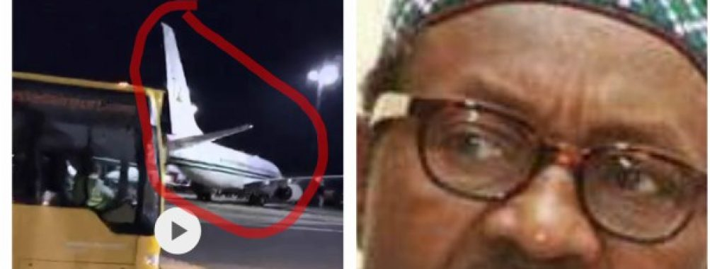 Nigeria's Presidential Jet Spotted At Stansted Airport in London (Photos)